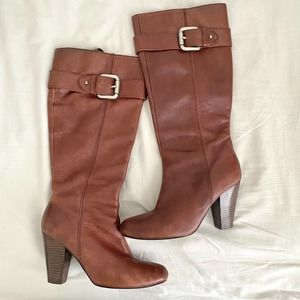 Fossil   Leather Knee High Boots